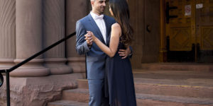 Downtown Engagement Session – Priya & Nem