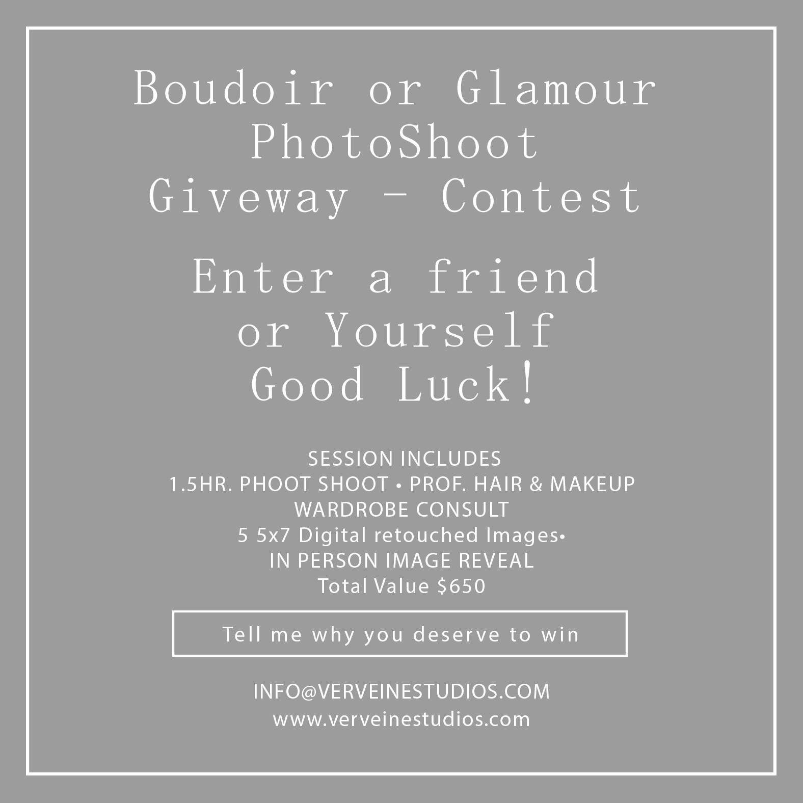 Photo Shoot Giveaway – Contest